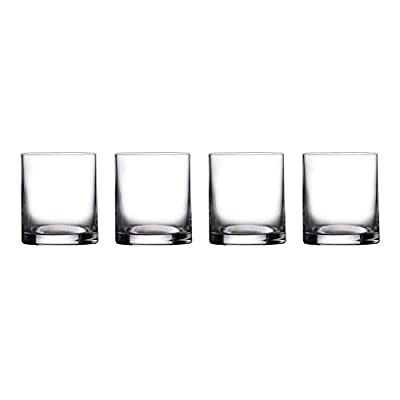 Waterford Marquis Moments Double Tumbler, 390ml, Crystal, Glass, 390 milliliters, Douoble Old Fashioned Set of 4