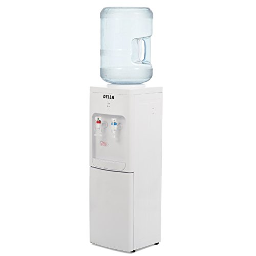 DELLA Water Dispenser Water Cooler Freestanding Stand Up Hot Room Cold Temp Push Lever Child Safety Lock, White