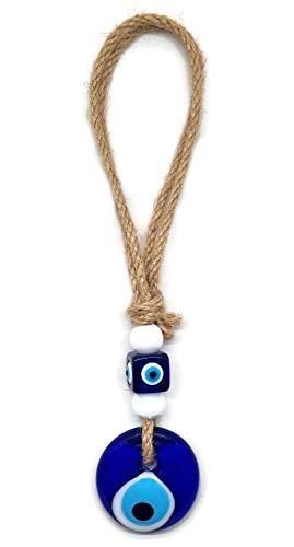 MYSTIC JEWELS - Ojo Turco con Jude para Casas, Coches - Amuleto Buene Suerte - Good Luck Ornament (Azul)