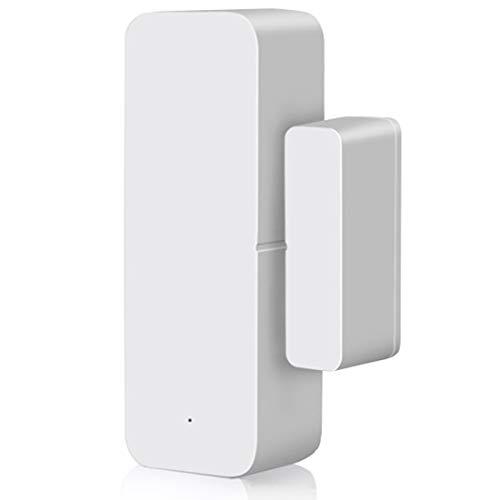 ACAMPTAR Detector de Apertura y Cierre de Contactos de Ventana con Sensor de Puerta WiFi Inteligente Compatible con Alexa Home Assistant