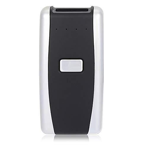 YoLiy Lecteurs de Codes Barres Précise Mini Red Light sans Fil Bluetooth 4.0 Barcode Scanner USB Rechargeable Android iOS Support Rapide Balayage Précis (Color : Black, Size : 8x4x2cm)