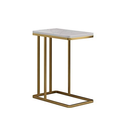 SZQ-Bouts de canapé Séjour Canapé Table, lisse rectangulaire en marbre Table basse Hôtel Balcon Salon de thé par The Sofa Table Economiser de l'espace Guéridons (Color : A, Size : 58 * 50 * 30CM)