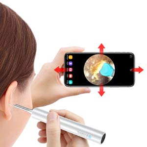 Ear Wax Removal Tool,Ear Camera 1080P FHD WiFi Ear Scope with 6 LED Lights for Kids and Adults, Ear Wax Remover, Wireless Ear Endoscope, Compatible with Android and iPhone