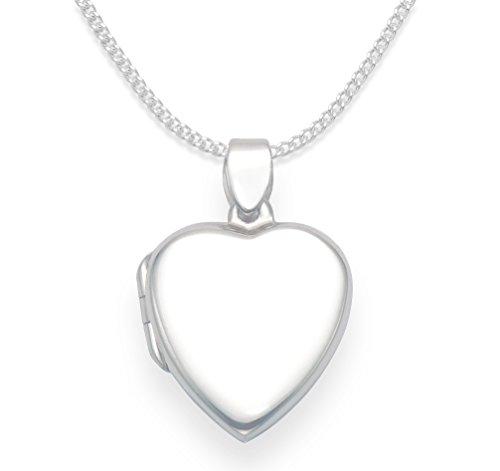 Collana con ciondolo portafoto a forma di cuore, in argento sterling, su catenina lunga 46 cm. Dimensioni: 18 mm x 20 mm x 4,5 mm In confezione regalo 8018/18.