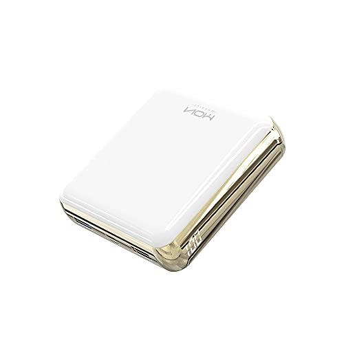 MOXNICE Powerbank 20000mAh Power Bank, Ultrakompakter Externer Akku mit Zwei Ausgängen für Smartphones und Tablets (Weiß)