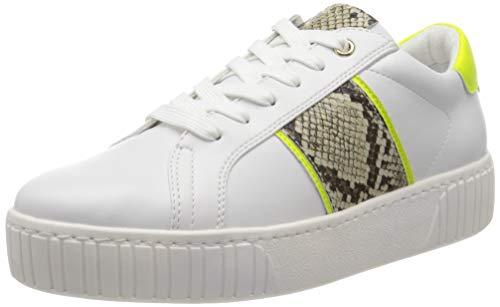 MARCO TOZZI Damen 2-2-23713-34 Sneaker, Mehrfarbig (White/Neon YEL 132), 39 EU
