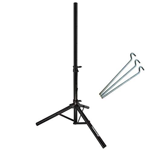 PremiumX Dreibein Stativ Stahl Sat Dreibeinstativ für Satellitenschüssel - Ideal für Camping Balkon Terasse als Tripod Ständer Balkonständer