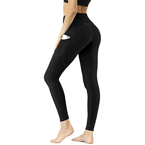 CUGOAO High Waist Yoga Pants with Pockets, Workout Pants for Women, Yoga Leggings with Pockets Black