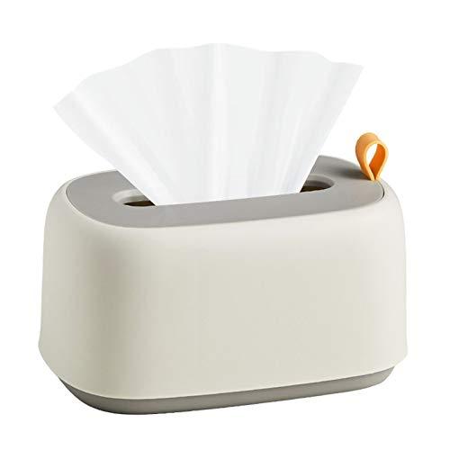 Irtyif Estuche para Caja de pañuelos, Caja de Almacenamiento de toallitas húmedas Soporte para Caja de Papel tisú dispensador de Caja de pañuelos Desechables Estuche para pañuelos de Pared