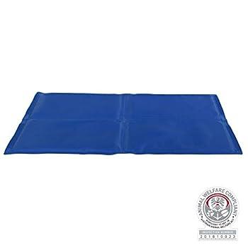 Matelas Rafraîchissant pour Chien Bleu 90 x 50 cm
