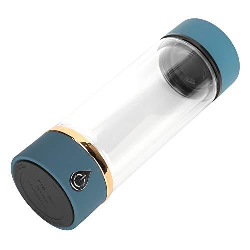 Nuobi Botella de Agua Rica en hidrógeno, ionizador de Agua de hidrógeno, generador de Agua de hidrógeno Recargable Azul, generador de Agua de hidrógeno, Regalo para el hogar de Ancianos