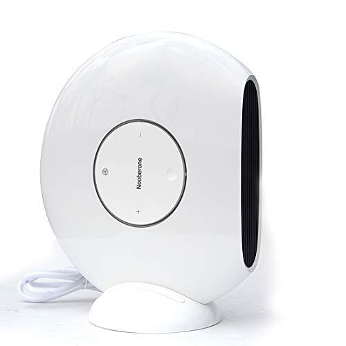 Luoshan 1000W Invierno Mini Calentador de Ventilador eléctrico Radiador de Escritorio for el hogar Ahorro de energía, Enchufe de EE. UU. (Blanco) (Color : White)