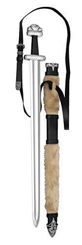 Supreme Replicas Handgeschmiedetes dänisches Wikingerschwert - Schwert aus hochwertigem Karbonstahl mit Schwertscheide