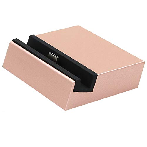 Durable Titular USB-C/Type-C/Cargador de Base de Carga, para LG Nexus 5X / Huawei Nexus 6P / LETVE LE 1S / XIAOMI 4C / ZUK Z1 (Negro) (Color : Rose Gold)