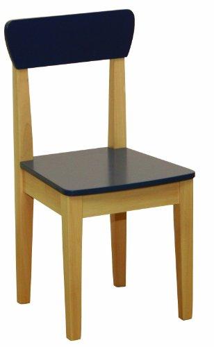 roba Kinderstuhl, Stuhl mit Lehne für Kinder, Holz natur und blau lackiert, HxBxT: 59x29x29 cm, Sitzhöhe 31 cm