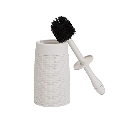 Mind Reader MAGTBR-IVO Magic, Cleaning, Freestanding Toilet Bowl Brush, Bathroom Storage and Organizer, Ivory Round Holder