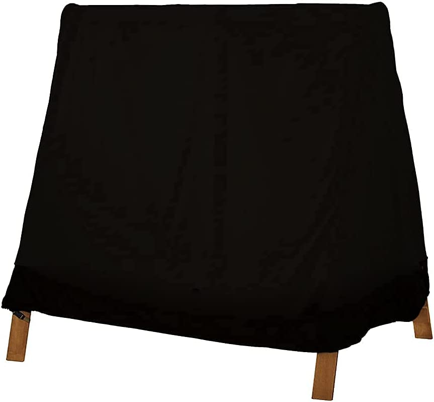 Patio Swing Cover A-Frame Swing Seat Cover 72''x67''x55'' Waterproof UV Resistant Weather Protected Porch Swing Cover for Garden Courtyard Patio Furniture (Black)