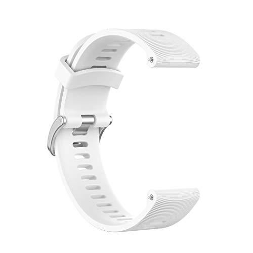 Dsxnklnd Pulseira esportiva de reposição universal de silicone de 20 mm para pulseira Forerunner 245M/645/Vivoactive3/Vivomove HR