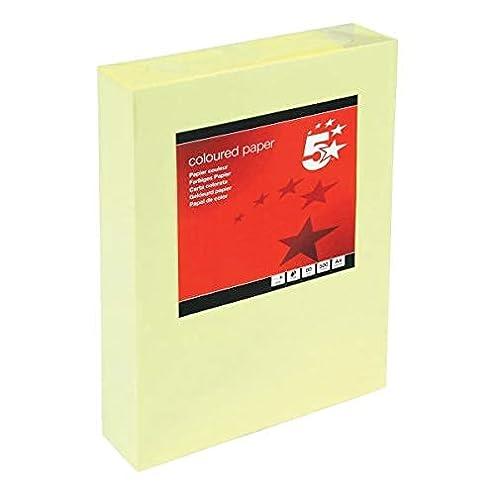 Dohe 30201 - Pack de 500 hojas de papel, A4, color amarillo : Disponible en una gama de tonos pastel Produce resultados excelentes en una amplia gama o Laser garantizada