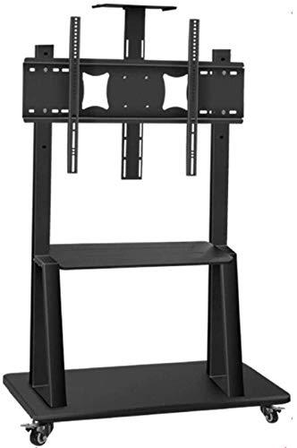N/Z Inicio Equipamiento Mesa giratoria Soporte para TV Soporte de Piso Alto para TV de Acero Inoxidable para Pantallas Planas para televisores de 50 80 Pulgadas Soporte de Piso Alto para TV Negro