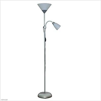 Brilliant 93008/76 - Lámpara de pie, aluminio;plástico ...