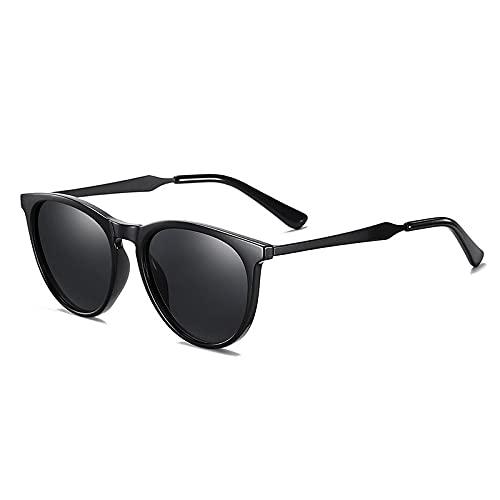 AMFG TR Gafas de sol polarizadas Metal Marco redondo Gafas de sol Gafas de sol de conducción al aire libre (Color : E)