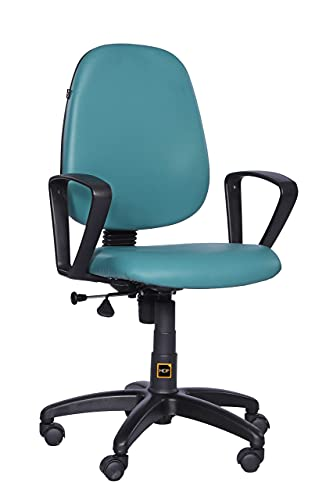 HOF ECO-302 Series Computer Student Study Chair, Cushion Mid Back Base Office Executive Chair for Home/Work, Leatherette Seat...