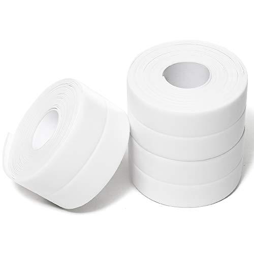 Caulk Tape Strip,3Pack Self-Adhesive Tub Caulking Sealing Tape for Kitchen Sink Toilet Bathroom Shower and Bathtub Floor Wall Edge Protector-1-1/2