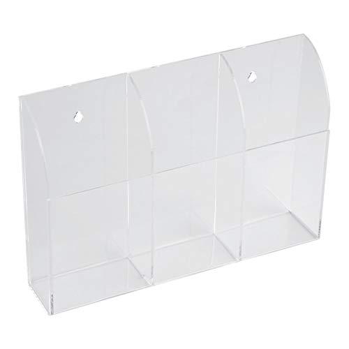 Transparant acryl afstandsbediening doos afstandsbediening houder muurbevestiging voor huishouden(Three grid)