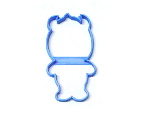 SULLY OUTLINE FURRY BLUE MONSTER CARTOON CHARACTER FROM MONSTERS INC SPECIAL OCCASION COOKIE CUTTER BAKING TOOL 3D PRINTED MADE IN USA PR3222