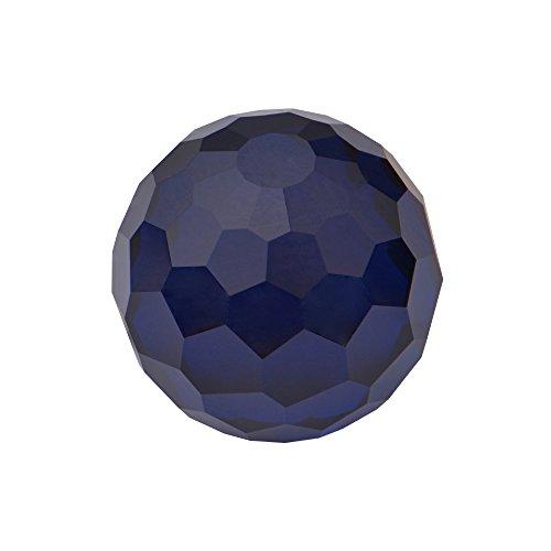 Quiges Geschliffenes Glas 10 mm Eligo Kugel Dunkelblau für Silber Ring und Anhänger