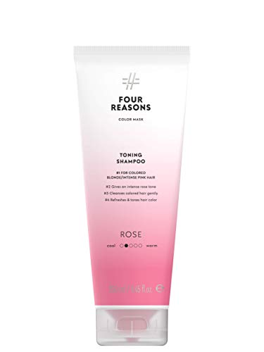 Color Mask Rose Toning Shampoo for Pink Hair - Pink Color Depositing Shampoo for colored blonde, light brown or intense pink hair. - Four Reasons 8.5 fl oz