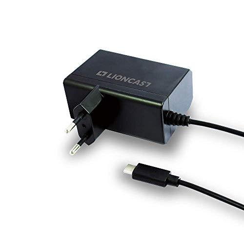 Lioncast Netzteil für Nintendo Switch | Ladegerät Quick Charge via USB-C (Handheld und TV-Modus) Ladekabel zum Laden & Spielen gleichzeitig auch Nintendo Switch Lite