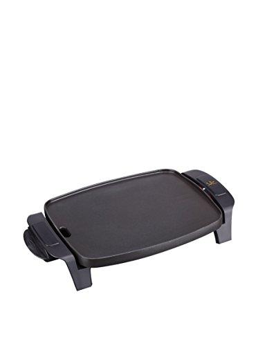 Jata GR205 Plancha de Asar Perfecta para Dos Personas Superficie 28 x 22 cm Antiadherente Bandeja Colectora de Salsas Apta para el lavavajillas Fabricada en España