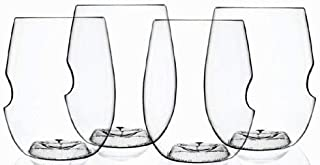 Govino Go Anywhere Dishwasher Safe Flexible Shatterproof Recyclable Wine Glasses, 12-ounce (Set of 4)