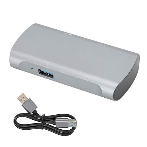 Agatige Tarjeta de Captura de Video y Audio, USB 2.0 Tarjeta de Grabación de Pantalla de Video y Audio 4K/30HZ 1080P para Juegos en Vivo