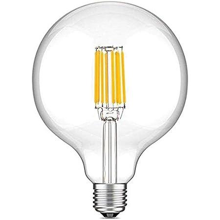 Bonlux 10W G125 E27 Filament LED verre globe Blanc Neutre 4000K 220v 125mm ES Edison vis LED 100W Incandescent Equivalent