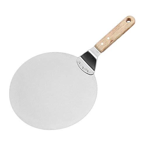 Voolok Pizzaschaufel, Pizzaschale, Edelstahlschale mit Holzgriff, 9 Zoll Klinge, 7 Zoll Griff, Backhandliche Werkzeuge für Pizzahersteller Ofengrill