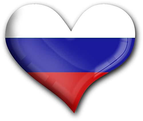 metALUm Herz Acrylmagnet mit starkem Neodym - Magnet Flagge Russland #1311040