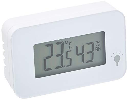 エンペックス (EMPEX) 温度計・湿度計 ホワイト 52×34×15mm シュクレ・イルミー、ホワイト TD-8331