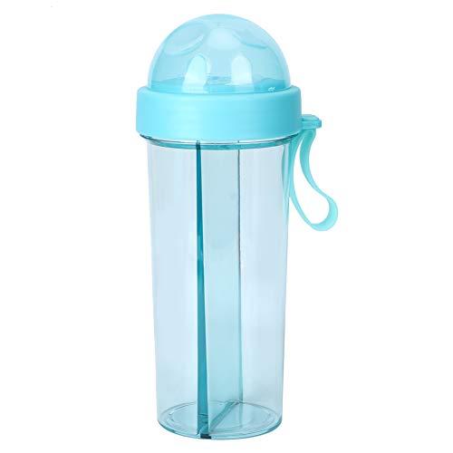 YIFengFurun Botella de agua, multifuncional, portátil, creativa de una taza y dos tazas de agua, para coche, viajes, deportes al aire libre, camping 600 ml
