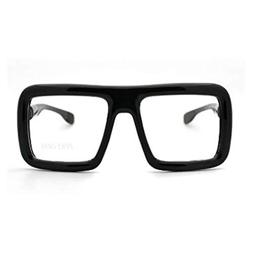 Thick Square Glasses Clear Lens Eyeglasses Frame Super Oversized Fashion (mat.