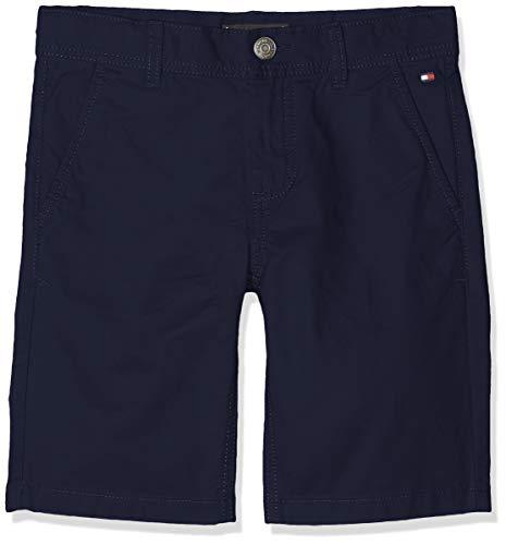 Tommy Hilfiger Jungen Essential Twill New Chino Shorts, Blau (Black Iris 002), 116 (Herstellergröße: 6)