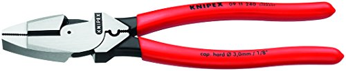 Knipex 09 11 240 SBA 9.5-Inch Ultra-High Leverage Lineman\'s Pliers with Fish Tape Puller and Crimper by Knipex