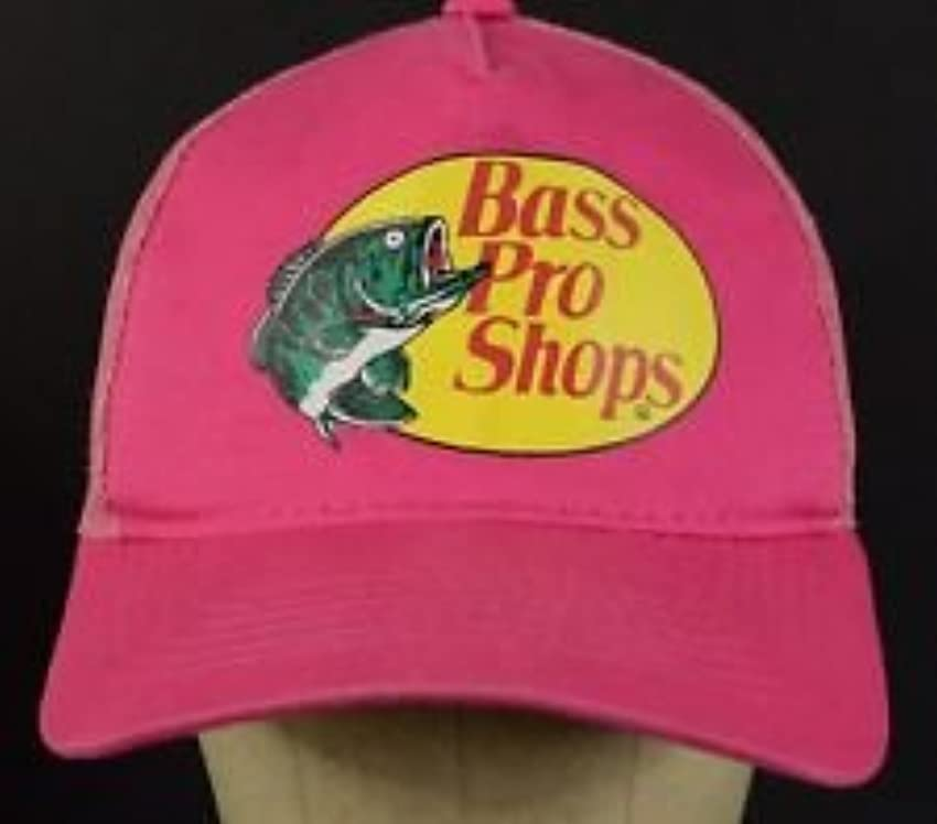 社会主義者スカイ蒸発Bass Pro Shops メッシュロゴ 釣り用帽子 ピンク 調節可能 ユース