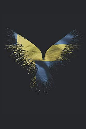 Cuervo sueco de Odin: Cuervo de Odin sueco: libro de puntos de 6x9 pulgadas con 120 páginas | Cuaderno cuervo de Odin sueco