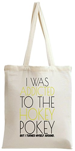 I Was Addicted To Hockey Pockey Slogan Tote Bag