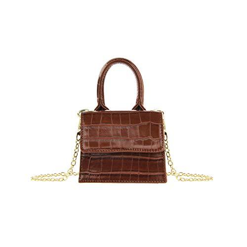 Olivia Miller Women's Faux Crocodile Leather Mini Shoulder Bag Crossbody Purse Handbag