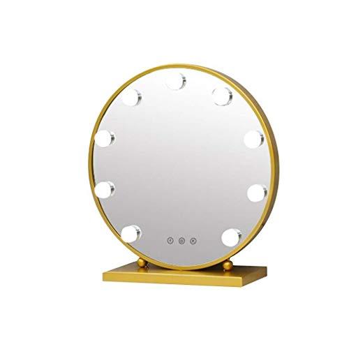 Espejo hogar sencilla y elegante maquillaje Espejo de cortesía con las luces, con regulable bombillas LED Diseño de control táctil for baño Cuarto de vestir Vanidad Tabla Espejo de baño vanida
