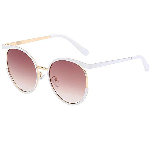 chuanglanja Gafas De Sol Mujer Aesthetic Gafas De Sol Retro Redondas Para Mujer Gafas De Sol Para Mujer Gafas De Sol Vintage Para Mujer Espejo-Color-R